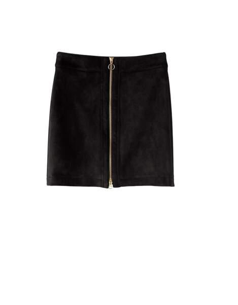Heidi Klum x Lidl : minijupe zippée noire