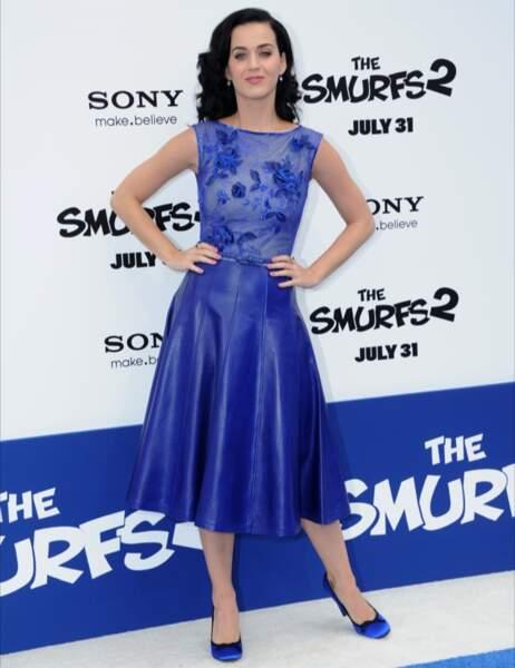 Sur ce coup là Katy Perry aurait pu s'abstenir... (On a bien compris qu'elle adorait le bleu, c'est bon...)