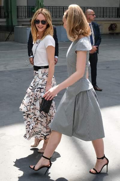 Défilé Chanel : Vanessa Paradis et Lily-Rose Depp