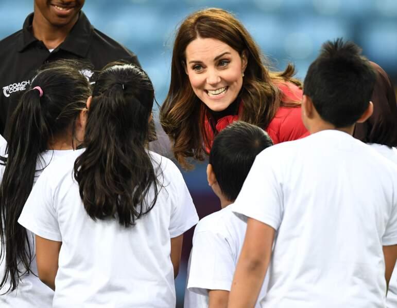 Kate Middleton a rencontré les enfants du programme Coach Core