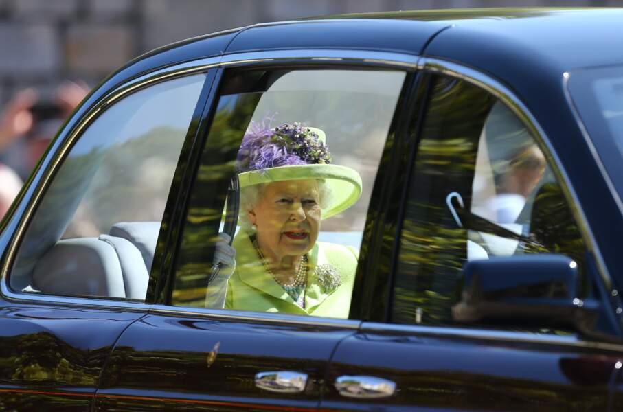 L'arrivée de la reine Elizabeth II