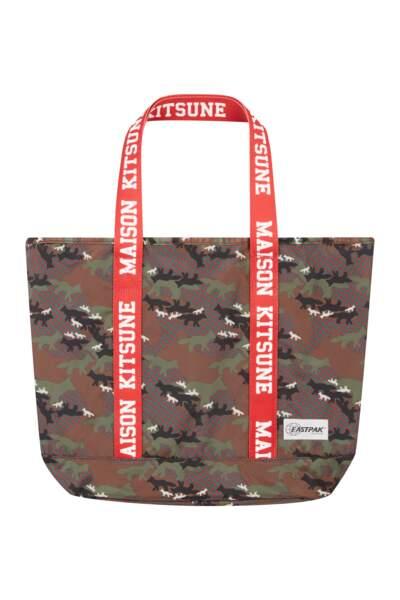 Maison Kitsuné x Eatspak : Flask tote, tote bag « camo fox », 95 euros