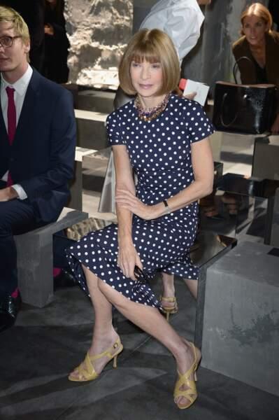 Fashion Week défilé Saint Laurent : Anna Wintour était évidemment là
