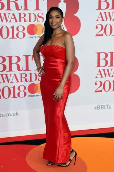 Jennifer Hudson aux Brit Awards 2018, le 21 février à Londres