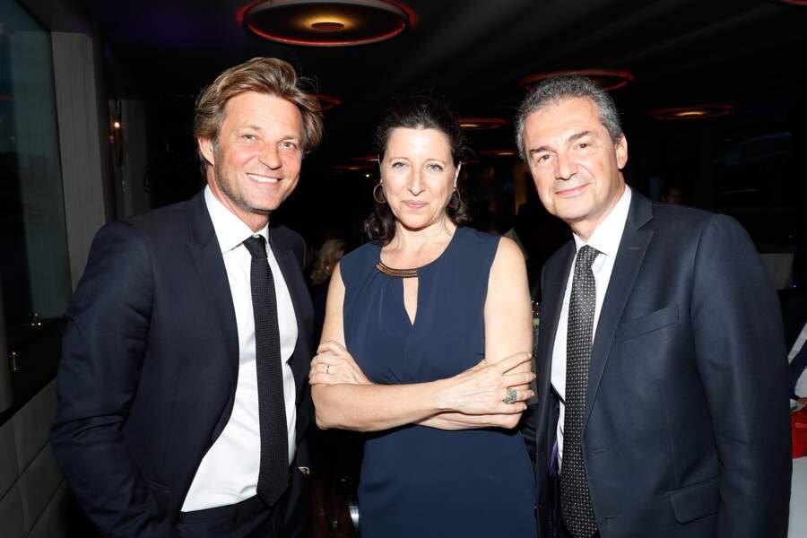 Laurent Delahousse, le compagnon d'Alice Taglioni, n'est jamais très loin avec Agnès Buzyn, la ministre de la Santé