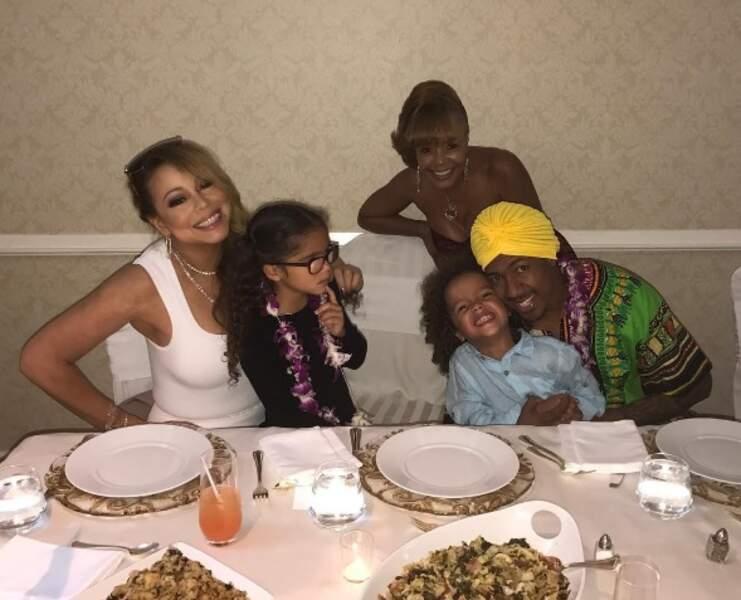 Mariah Carey retrouve son ex-mari et ses deux enfants
