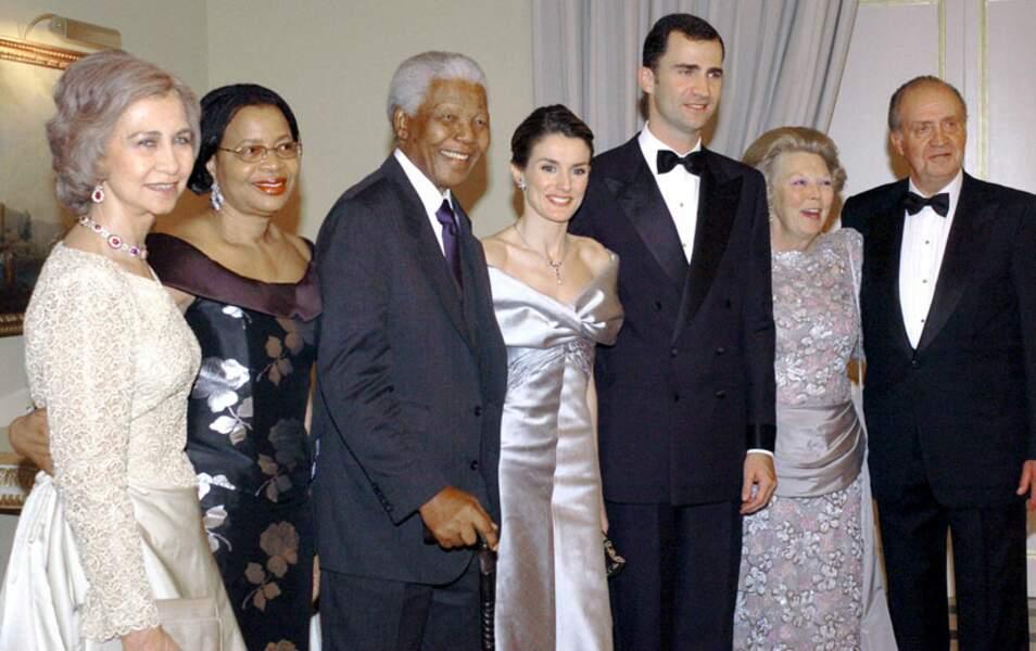 Avec la famille royale d'Espagne