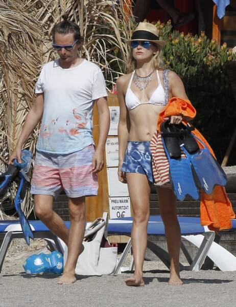 Kate Hudson et Matthew Bellamy en vacances à Ibiza