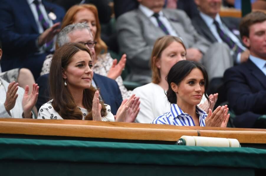 Kate Middleton et Meghan Markle dans les tribunes de Wimbledon