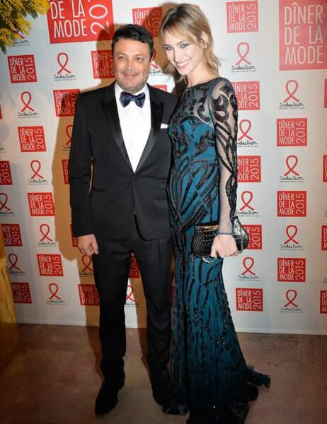 Le créateur Zuhair Murad et Pauline Lefèvre