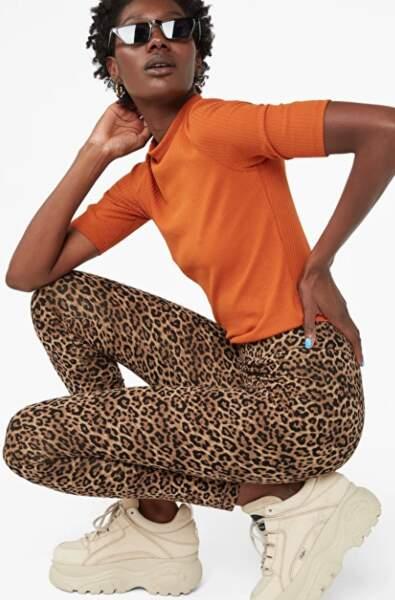 Legging léopard, Monki, 15€