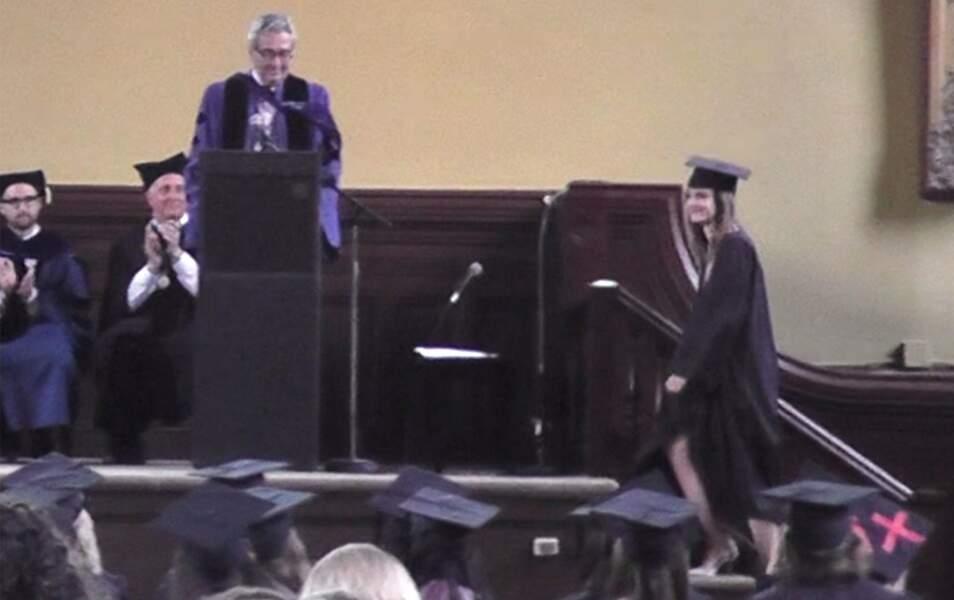 Emma Watson est montée sur l'estrade