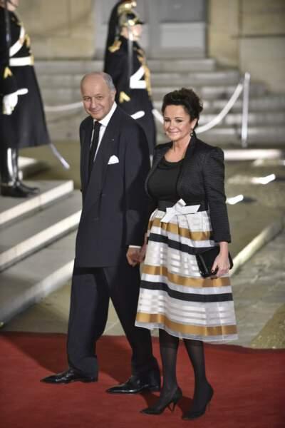 Laurent Fabius, le ministre des Affaires étrangères, et son épouse