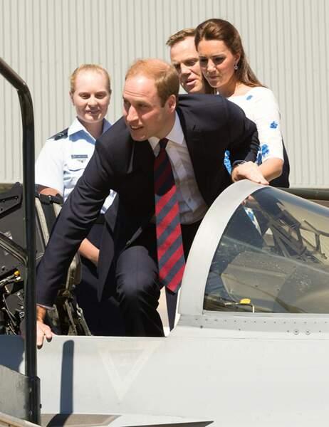 William monte à bord