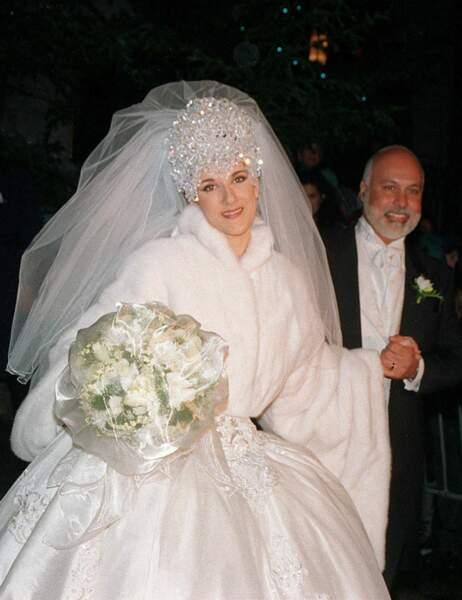 Le 17 décembre 1994, le couple échange ses voeux en la basilique Notre-Dame de Montréal