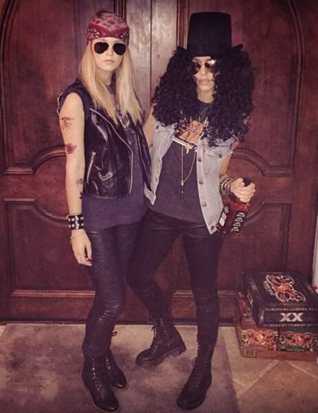 Jessica Alba déguisée en Slash des Guns N' Roses