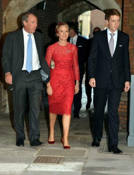 Michael Samuel est accompagné de deux parrain-marraine : Earl Grosvenor et Julia Samuel