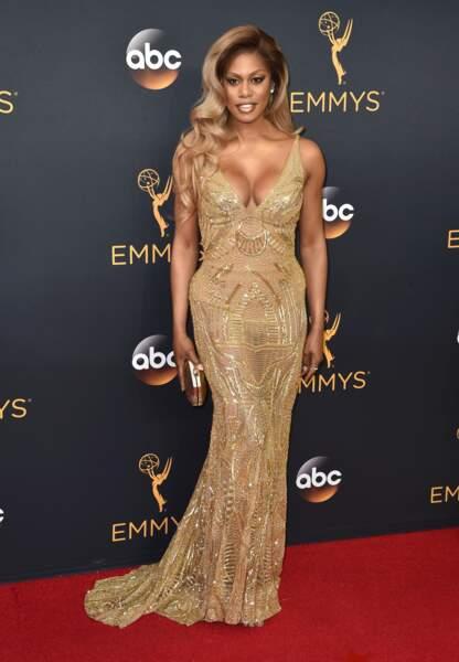 Emmy Awards 2016 : Laverne Cox en Naeem Khan