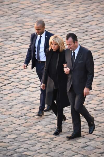 Brigitte Macron à l'hommage national à Charles Aznavour