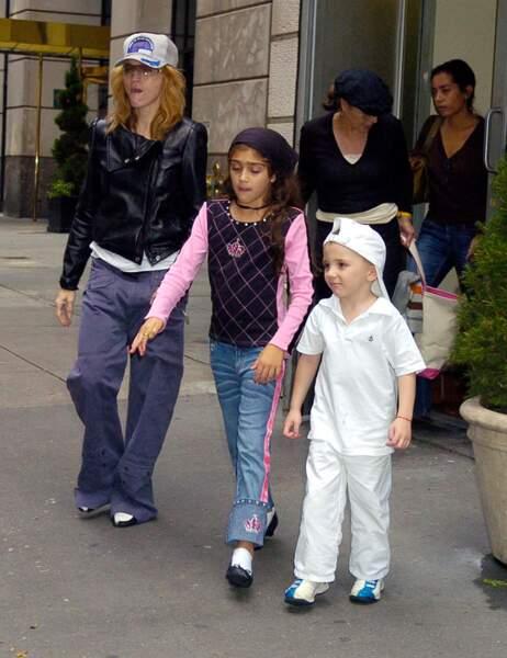 Madonna, Lourdes et Rocco avant...