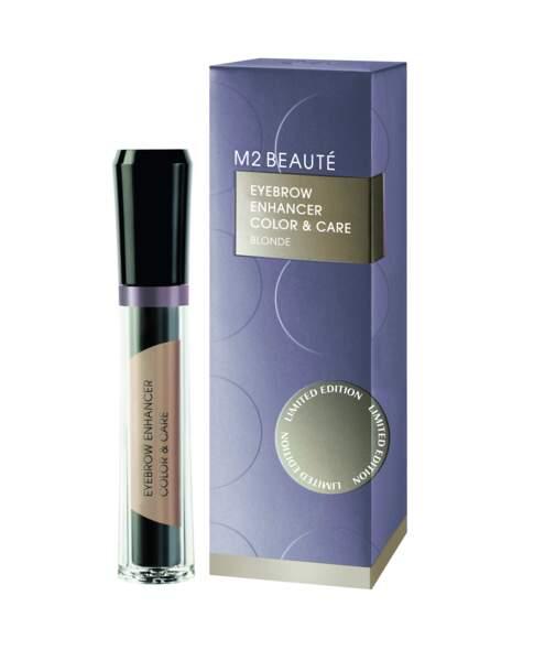 Soin sourcils Eyebrow Enhancer Color and Care Blonde, M2 Beauté, 45€