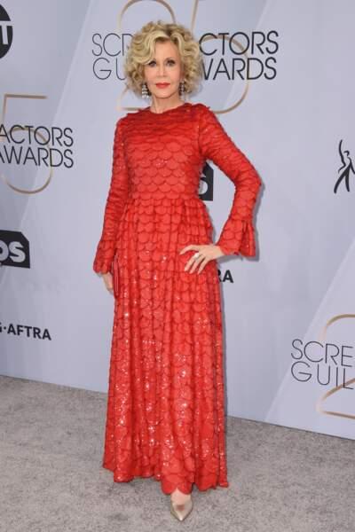 Jane Fonda aux SAG Awards 2019, le 27 janvier, à Los Angeles