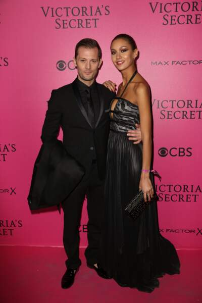 Défilé Victoria's Secret : Nicolas Duvauchelle et sa chérie Anouchka Alsif