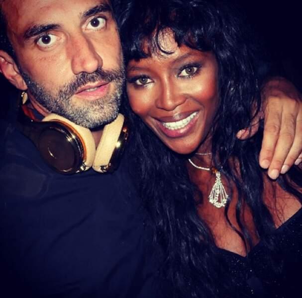 Riccardo Tisci et Naomi Campbell