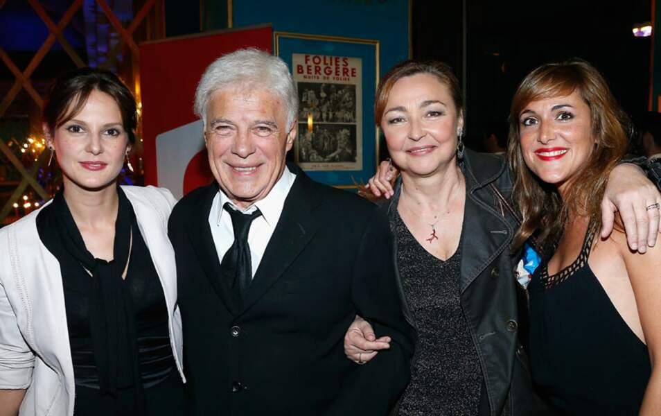 Elodie Navarre, Guy Bedos, Catherine Frot et Victoria Bedos ont assisté au show de Nicolas Bedos