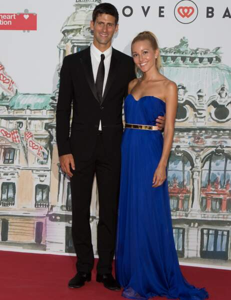 Le tennisman Novak Djokavic et sa compagne Jelena Ristic