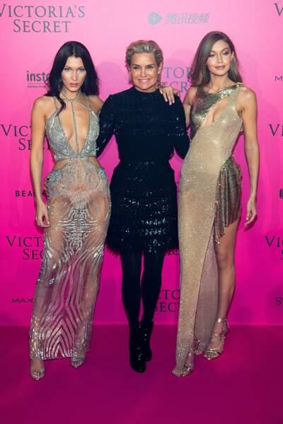 Défilé Victoria's Secret : Bella et Gigi avec leur mère Yolanda Hadid