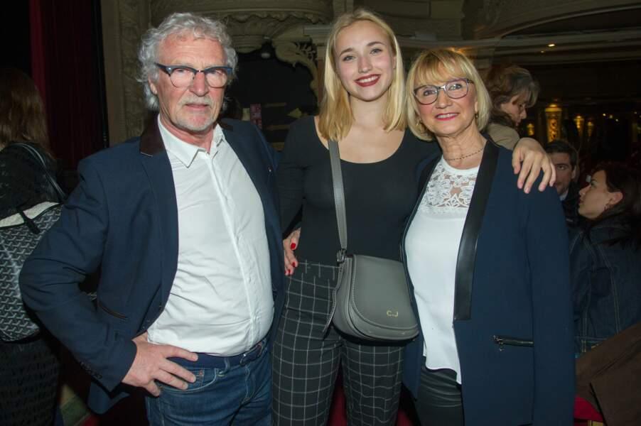 Chloé Jouannet et ses grands-parents