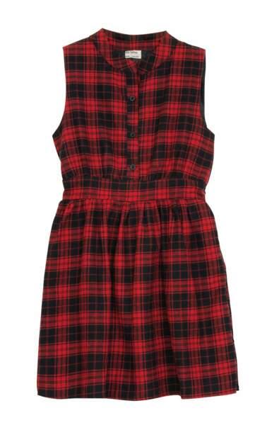 Robe à carreaux. 49,95€, Molly Bracken.