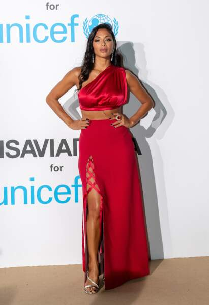 Nicole Scherzinger, au gala de l'UNICEF en Sardaigne, le 10 août 2018