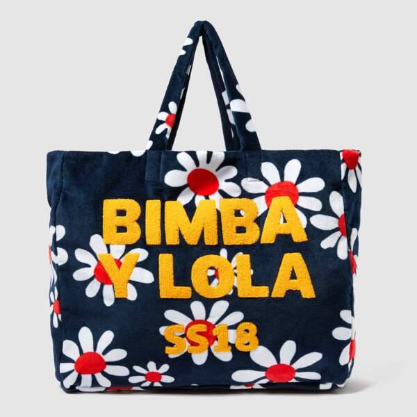 Sac de plage XL en éponge Daisy, Bimba y Lola, 96€ au lieu de 120€