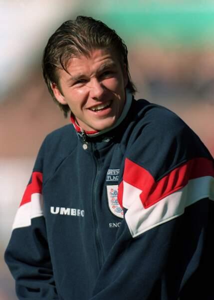 David Beckham en 1997: même coupe mais avec les cheveux plus longs