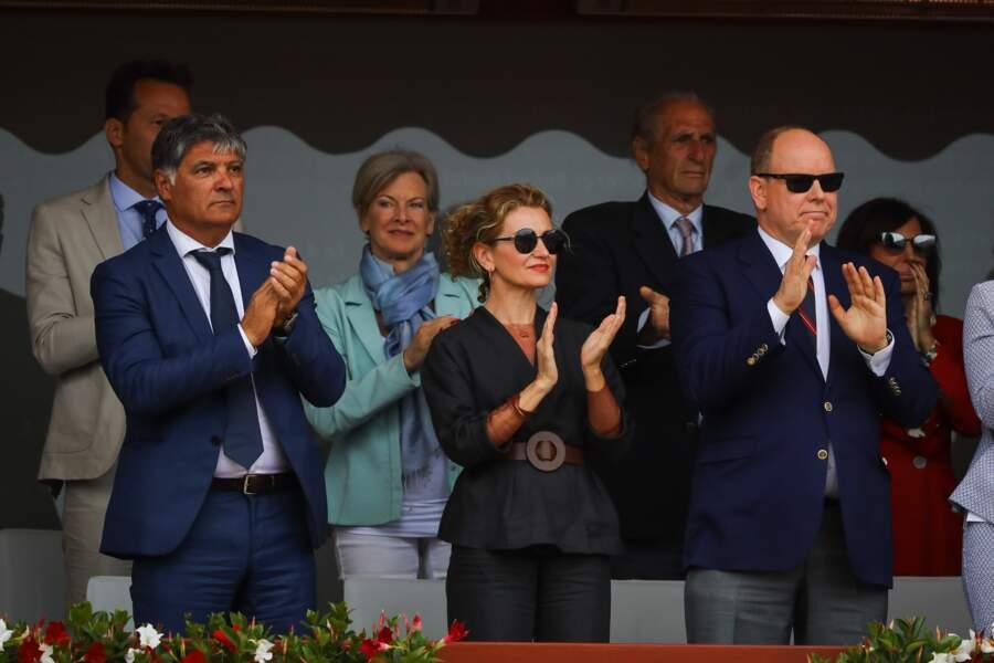 Victoria Silvstedt, Bob Sinclar, Nelson Monfort aux Masters 1000 de Monte-Carlo