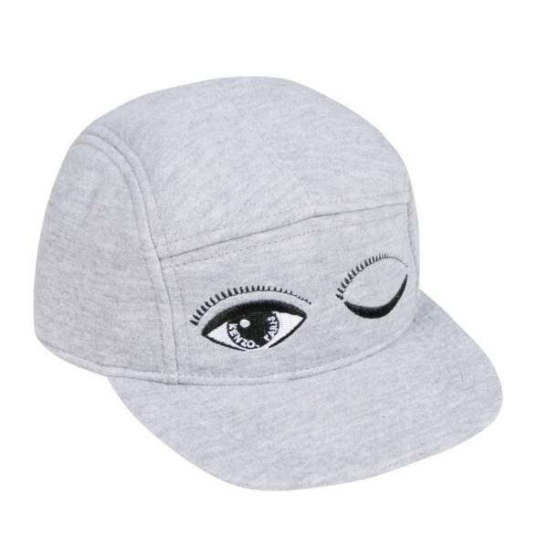 Casquette Clins d'œil brodés. 100% coton, 3 tailles ( 2/4, 5/8, 10/16 ans), à partir de 50 €, Kenzo Kids