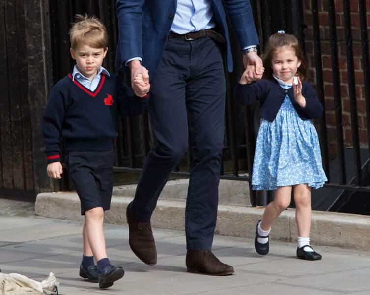 Anniversaire du Prince George - En avril dernier, il se rendait à la maternité pour rencontrer Louis, son frère