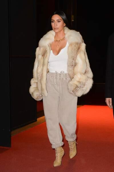 Kim Kardashian en route pour son cours de rap