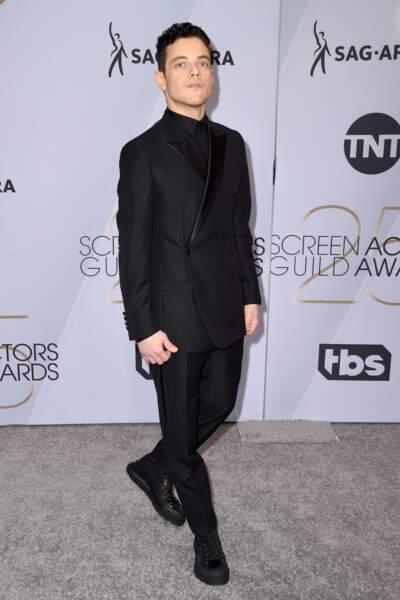 Rami Malek aux SAG Awards 2019, le 27 janvier, à Los Angeles