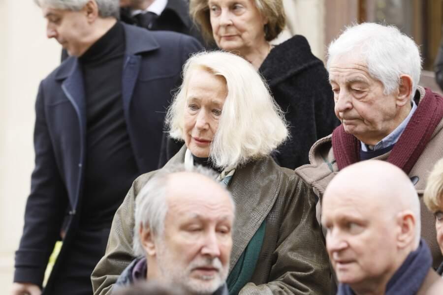 Obsèques de Michel Legrand à Paris : Brigitte Fossey et Ivan Levaï