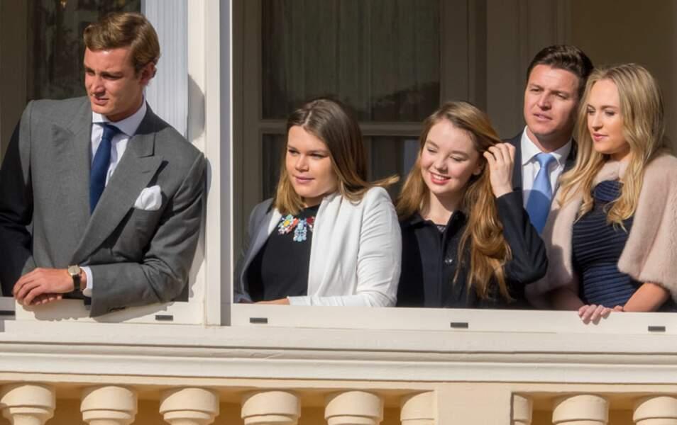 Pierre Casiraghi, Camille Gottlieb, Alexandra de Hanovre ainsi que Gareth Wittstock et sa compagne