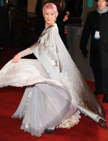 Helen Mirren, qui concourrait pour le Bafta de Meilleure actrice, n'a fait que tournoyer