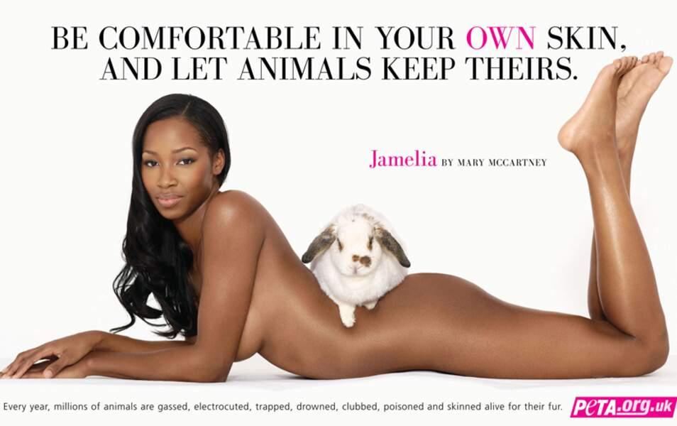 Jamelia pour la Peta