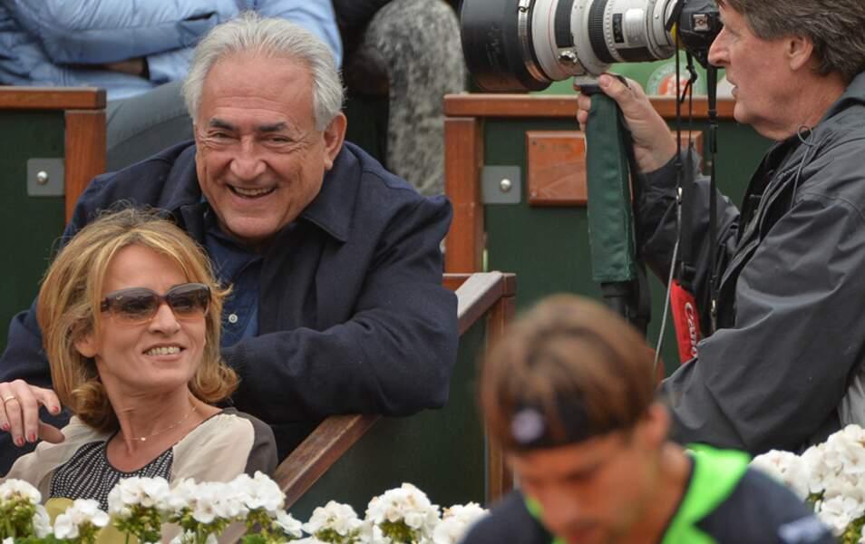 Dominique Strauss-Kahn et Myriam L'Aouffir à la finale messieurs de Roland Garros