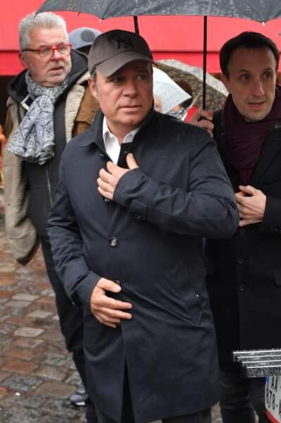 Fabien Lecoeuvre aux obsèques de Dick Rivers à Paris