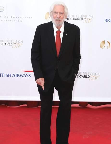Donald Sutherland sera récompensé par le prince Albert II