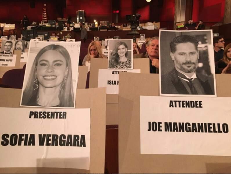 Sofia Vergara et Joe Manganiello ont juste eu à jouer à « Qui est qui ? » pour trouver leur place