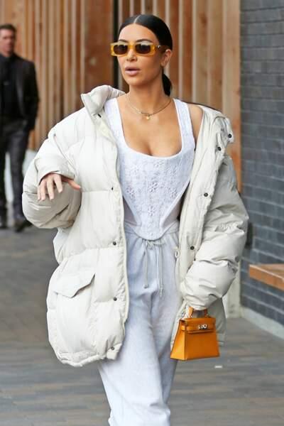 Kim Kardashian en route pour son cours d'escrime